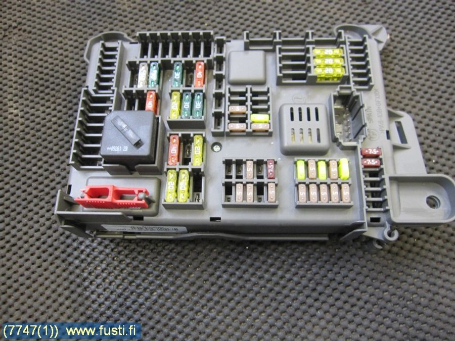 Fuse box / Electricity central, BMW X6 -2009 Fuse Box X on