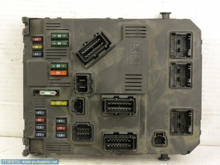 Fuse box / Electricity central, Citroen C2 -2004 Fuse Box In Citroen C on