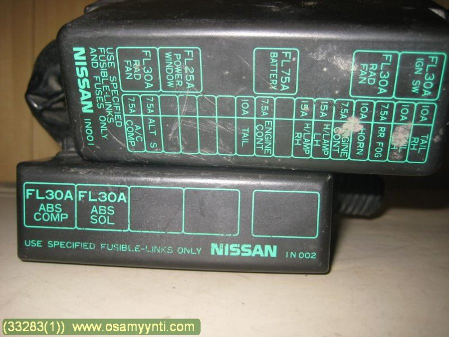 Fuse box / Electricity central, Nissan Almera -1998 Nissan Almera N Fuse Box on