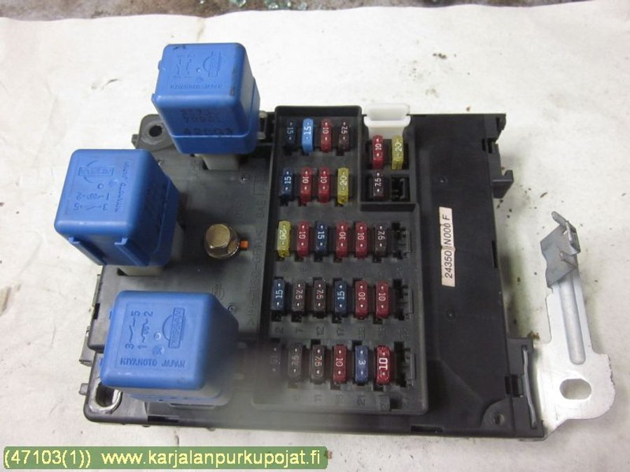 Fuse box electricity central n f nissan